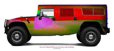 Hummer H1 Alpha Frenchman Flat Bombedbridge Original by Jan W Faul