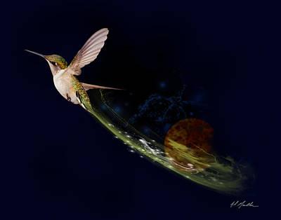 Constellation Digital Art - Hummingbird Heaven by Al  Mueller