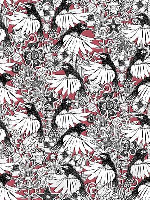 Hummingbird Drawing - Hummingbird Heaven Rouge by Sharon Turner