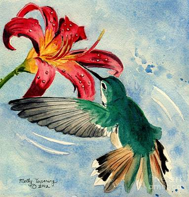 Hummingbird Painting - Hummingbird by Melly Terpening