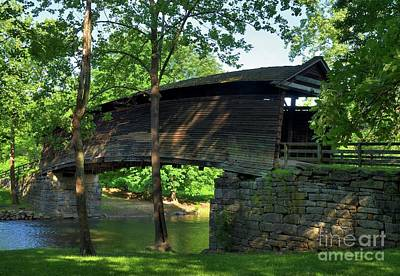Humpback Covered Bridge 2 Print by Mel Steinhauer