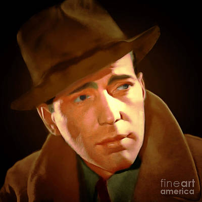 Humphrey Bogart 20150307 Square Print by Wingsdomain Art and Photography