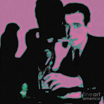 Humphrey Bogart And The Maltese Falcon 20130323m138 Square Print by Wingsdomain Art and Photography