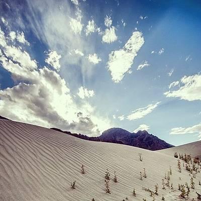 Desert Photograph - Sand And Clouds by Hitendra SINKAR