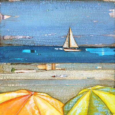 Umbrellas Mixed Media - Hundred Percent Chance Of Sun Showers by Danny Phillips