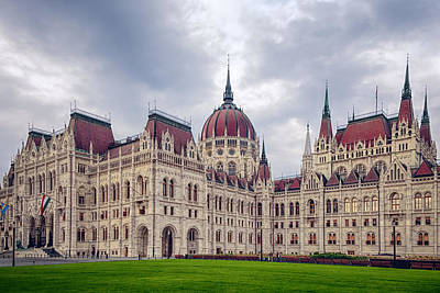 Budapest Hungary Photograph - Hungarian Parliament  by Joan Carroll