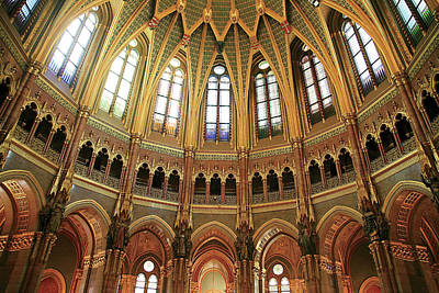 Budapest Attractions Photograph - Hungary, Budapest, Parliament Building by Miva Stock