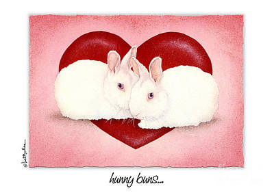 Romance Painting - Hunny Buns... by Will Bullas