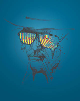 Enhance Painting - Hunter S. Thompson by Pop Culture Prophet
