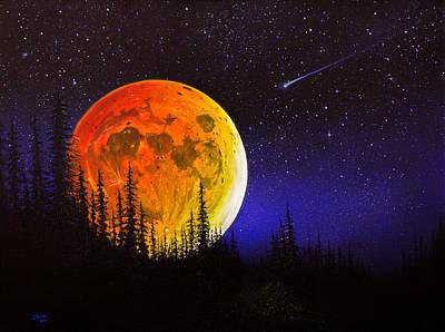 Hunter's Harvest Moon Print by C Steele