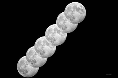 Moon Photograph - Hunters Moon Bw by Crystal Wightman