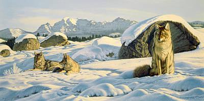 Yellowstone Painting - Hunter's Rest by Paul Krapf