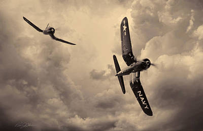 Hunters - Sepia Print by Peter Chilelli
