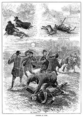 Hunting, 1885 Print by Granger