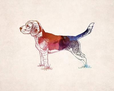 Hunting Dog Digital Art - Hunting Dog Drawing by World Art Prints And Designs