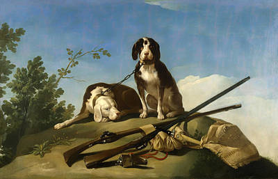 Musket Painting - Hunting Dogs by Mountain Dreams