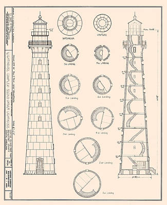 Hunting Island Light Print by Jerry McElroy - Public Domain Image