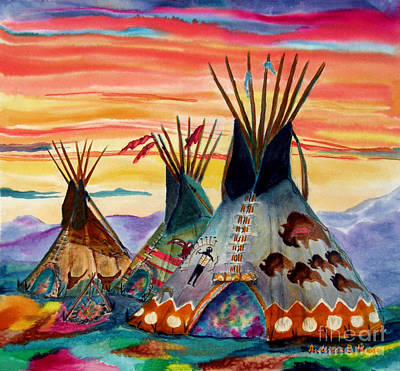 Painting - Hunting Lodges  Northern Plains by Anderson R Moore