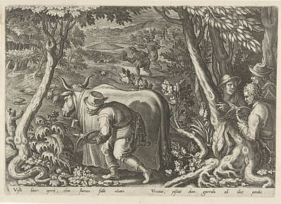 Hunting Partridges, Philips Galle Print by Philips Galle