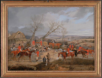 Hunting Scene The Kill The Belvoir Hunt The Death Signed Print by Litz Collection