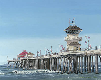 July Painting - Huntington Beach Pier by Robert Staley
