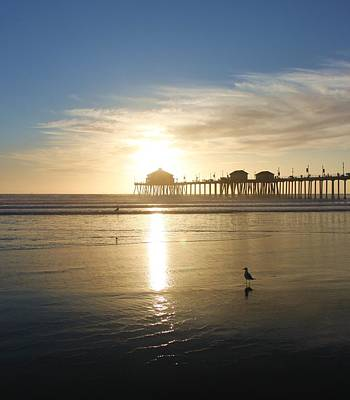 Ocean Photograph - Huntington Beach Vi by Caroline Lomeli