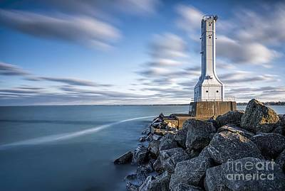 Huron Harbor Lighthouse Print by James Dean