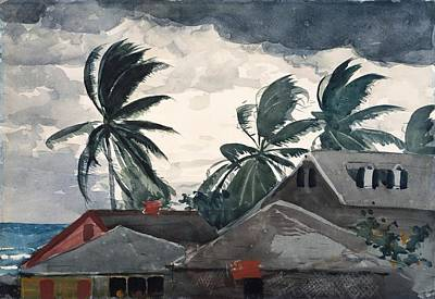 Hurricane Bahamas Print by Winslow Homer