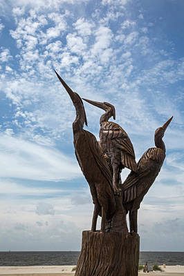 Carving Photograph - Hurricane Katrina Wood Carving by Jim West