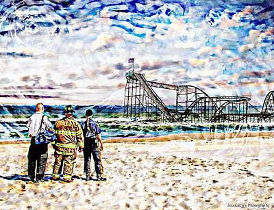 Seaside Heights Digital Art - Hurricane Sandy First Responders by Jessica Cirz