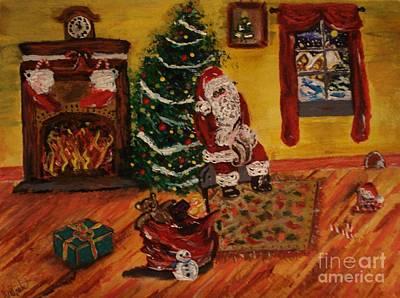 Hurry Up Santa Print by Lori  Lovetere