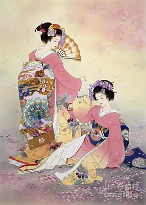 Purple Digital Art - Hutari Mai by Haruyo Morita