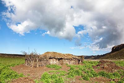 Huts Of Local Oromo Nomads At Keyrensa Print by Martin Zwick