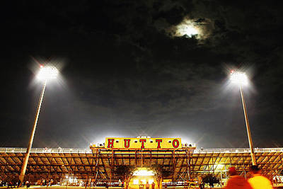 Cheerleaders Photograph - Hutto Hippo Stadium by Trish Mistric