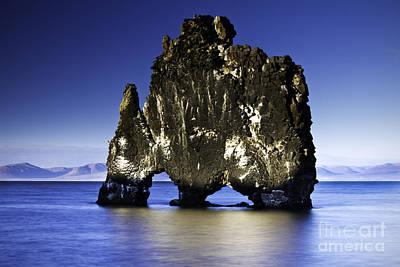 Horizontal Photograph - Hvitserkur Iceland by Gunnar Orn Arnason