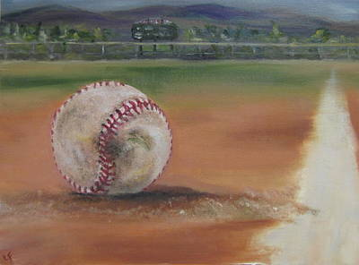 Baseball Art Painting - Hw Field by Lindsay Frost