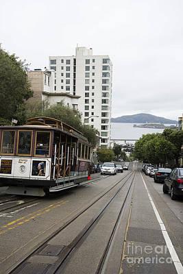 Alcatraz Photograph - Hyde Street Cable Car by David Bearden