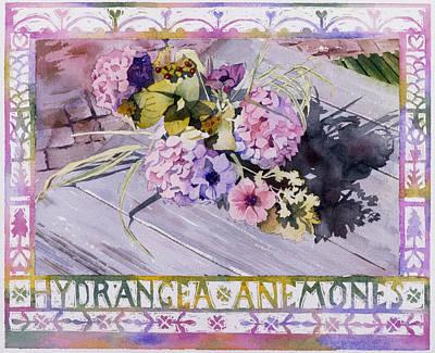 Hydrangea Anemones Print by Julia Rowntree