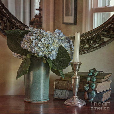 Silver Turquoise Photograph - Hydrangea Still-life by Terry Rowe