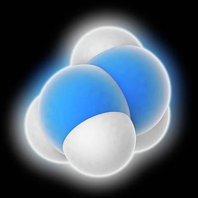 Polymer Photograph - Hydrazine Molecule by Laguna Design