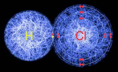 Bonding Photograph - Hydrogen Chloride by Lawrence Lawry