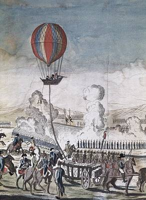 Hydrogen Hot-air Balloon For Military Print by Everett