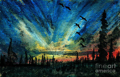Hyperborean Flight Print by R Kyllo