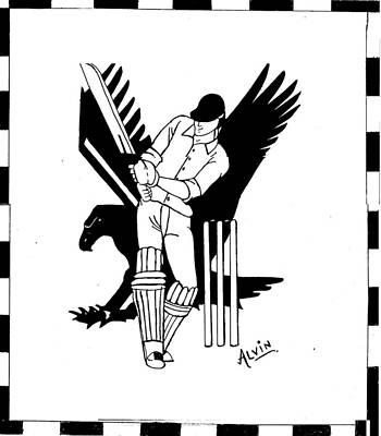 Cricket Drawing - I Am A Cricket Lover by Alvin Joseph