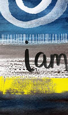 Handwriting Mixed Media - I Am- Abstract Painting by Linda Woods