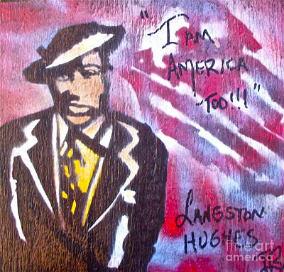 Harlem Painting - I Am America Too by Tony B Conscious