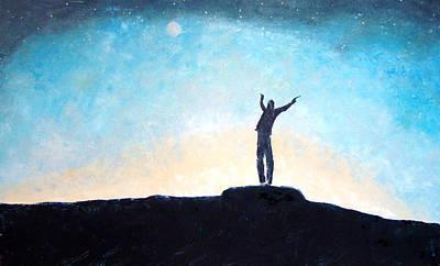 The Universe Painting - I Am by Anna Razmyshkina