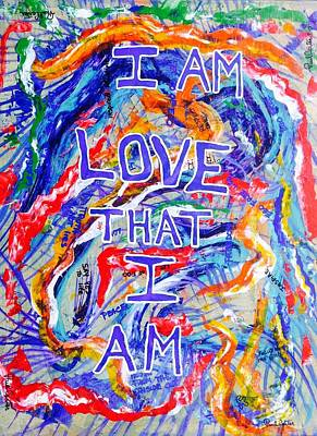 Painting - I Am Love by Paul Carter