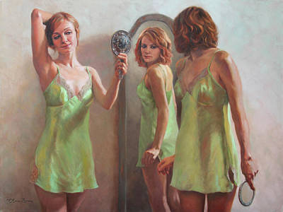 Vanity Painting - I Am Not Ugly I Am Not Beautiful by Anna Rose Bain