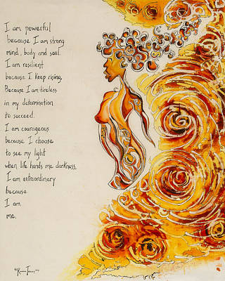 I Am Powerful Original by Roxane Tracey